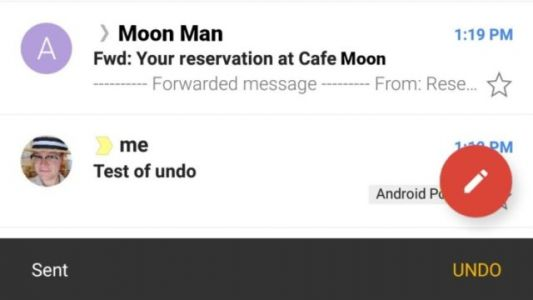 Gmail For Android Gets Undo Sent Email Feature