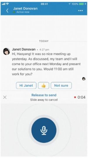 Update To LinkedIn Now Lets Users Leave Voice Messages