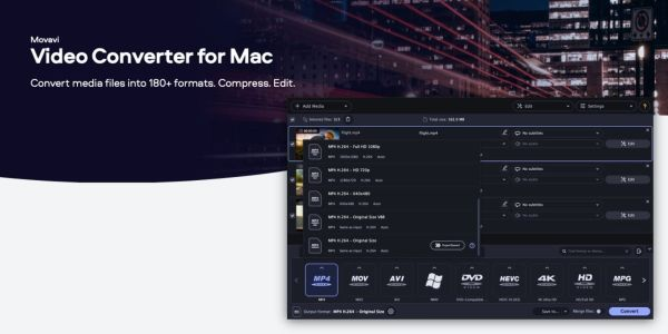 How to convert video formats on the Mac using Movavi