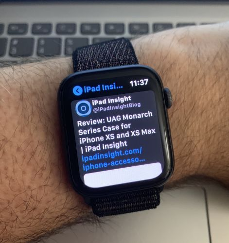 Chirp is the Perfect App for the Apple Watch Series 4 Screen