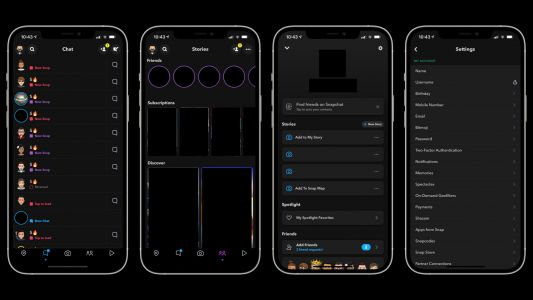 Snapchat Rolls Out Dark Mode on iOS