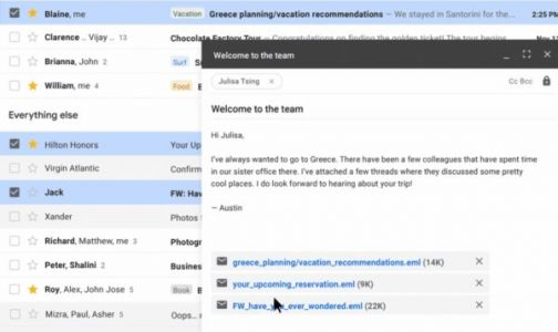 Gmail's Latest Update Lets You Email Emails