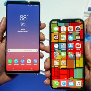 Even with the Note 9 and iPhone X at $1000, we still spend the same on phones
