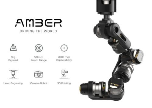 AMBER B1 robot arm passes $375,000 on Kickstarter
