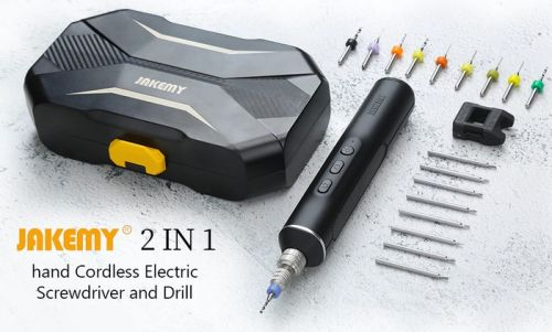 JAKEMY professional cordless electric screwdriver and drill