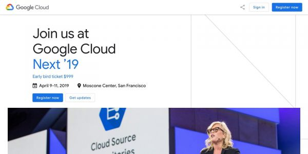 Google Cloud Next '19 scheduled for April 9-11, registration opens today