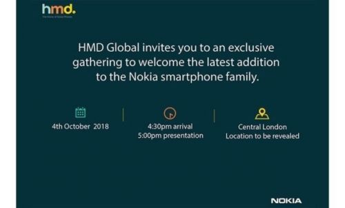 HMD Global Announces Event For October 4