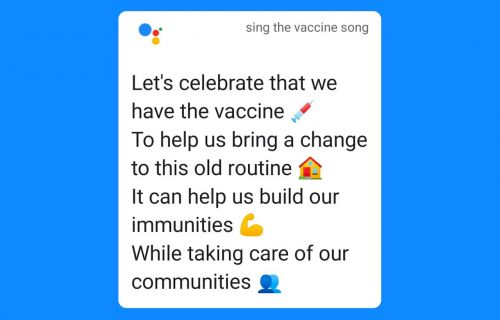 Google Assistant can now give you a vaccine musical number