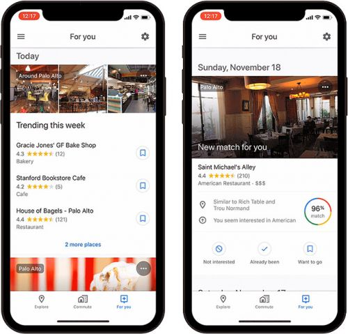 Google Maps Expanding 'For You' Recommendations Tab to iOS in Over 40 Countries Today