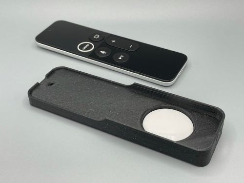 You can add an AirTag to your Apple TV remote with this 3D printed case