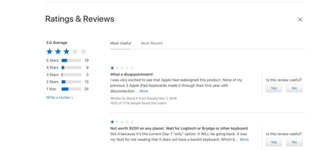 Apple quietly removes 'Ratings and Reviews' section from its online store