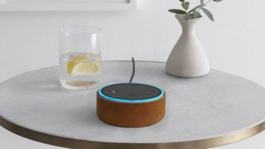 The Echo Dot smart speaker is back to its lowest price ever today