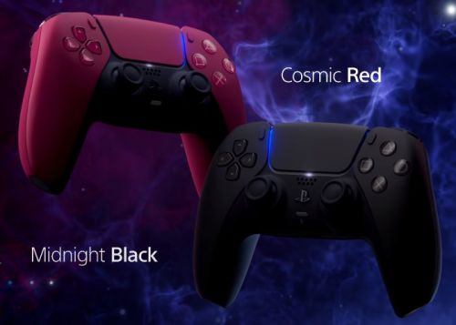 Black and Red PlayStation 5 DualSense controllers unveiled by Sony