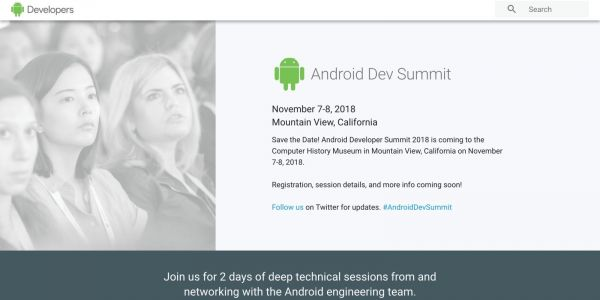 Google bringing back the Android Dev Summit w/ 2018 conference set for November 7-8