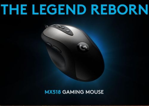 Classic Logitech MX518 gaming mouse rereleased