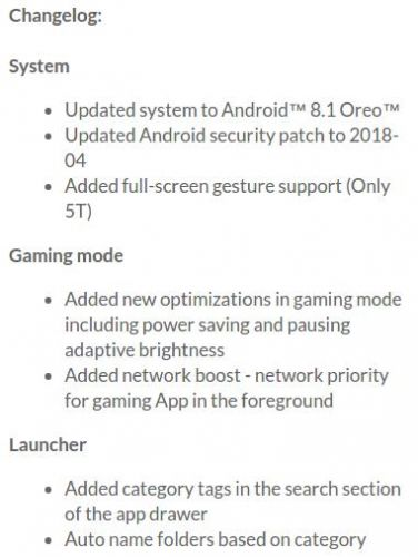 Android 8.1 Oreo Update Arrives To The OnePlus 5 & 5T