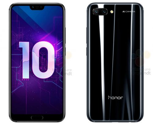 Honor 10's Seemingly Official Renders Leak Along With Specs