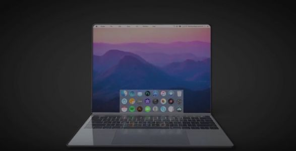 I want this foldable touchscreen MacBook tablet right now
