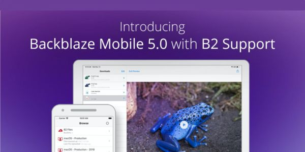 Blackblaze Mobile 5.0 launches with B2 support and increased file size limits