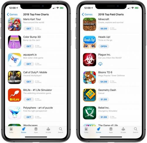 Most Downloaded iOS Apps and Games of 2019 Include Mario Kart Tour, Minecraft, YouTube and FaceTune