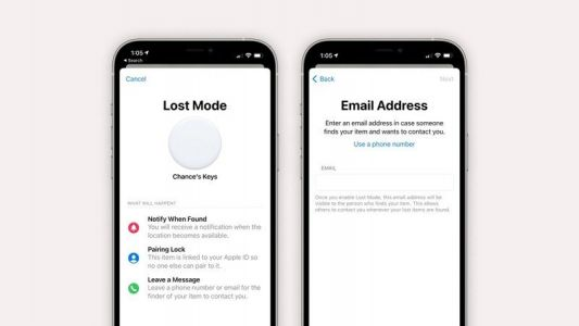 IOS 14.6 lets you list an email as a contact method for your lost AirTag