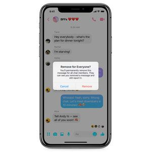 Facebook Messenger starts rolling out Unsend message option