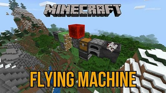 Minecraft: How to Build a Flying Machine Cheap and Easy