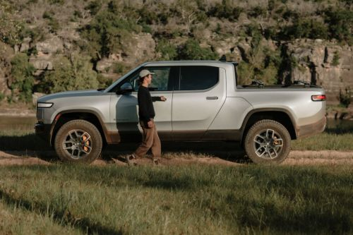 Rivian's electric truck features include air compressor and AC outlets