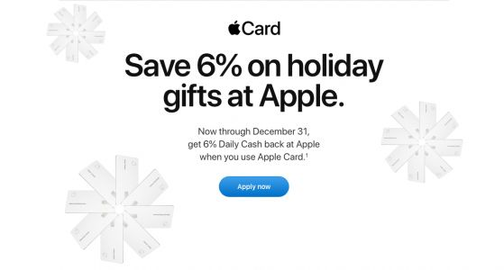 For the holidays, get double Apple Card cashback on all Apple Store hardware purchases