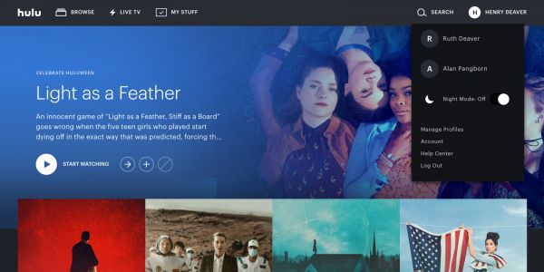 Hulu now has a dark mode for finding and watching videos on the web