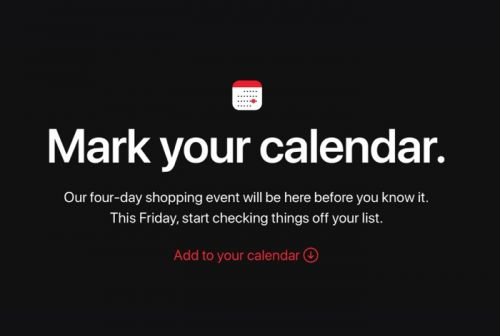 Apple announces four day shopping event starting on Black Friday