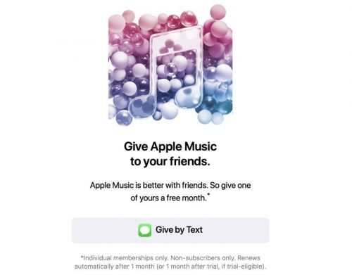 Apple Music Users Able to Gift a Month Subscription to a Friend