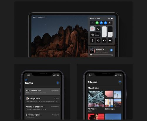 IOS 13 Concept Envisions Dark Mode, New Volume Indicator, iPad as Extended Display for Mac, and More