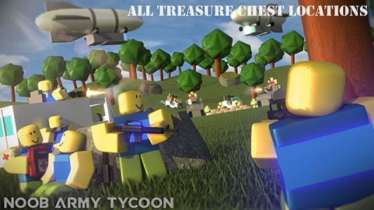 Roblox Noob Army Tycoon: All Treasure Chest Locations