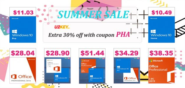 Crazy Summer Sale: Windows 10 Pro for $11.03 & Office 2016 Pro for $28.04