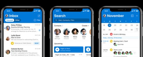 Microsoft Redesigns Outlook For iOS, Dark Mode being developed
