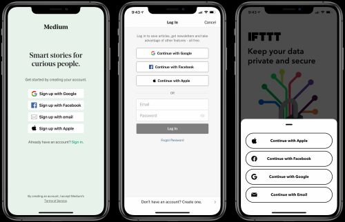 The New York Times, IFTTT, Medium, and Other Apps Adopt Sign in With Apple Ahead of June 30 Deadline