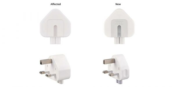 Apple announces recall of wall plug adapters used in three countries, and travel kit