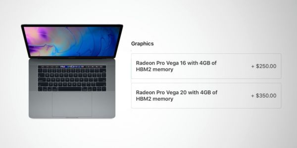You can now order the 15-inch MacBook Pro with Radeon Pro Vega discrete graphics