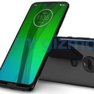 Leaked Moto G7 press render showcases waterdrop notch and dual cameras