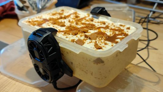 Can this gaming phone's cooler help make ice cream? I tried it, for science