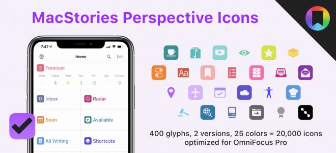 New 'Perspective Icons' collection from MacStories let's you personalize OmniFocus Pro