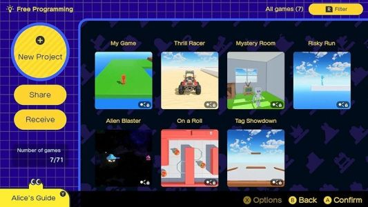 Learn more about game design with Game Builder Garage for the Switch