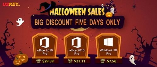 Halloween Sales: Windows 10 Pro with $7.56 and Office 2016 Pro with $21.11