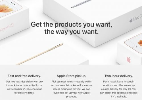 Apple Now Offering Free Next Day Delivery on Holiday Purchases Made by December 21