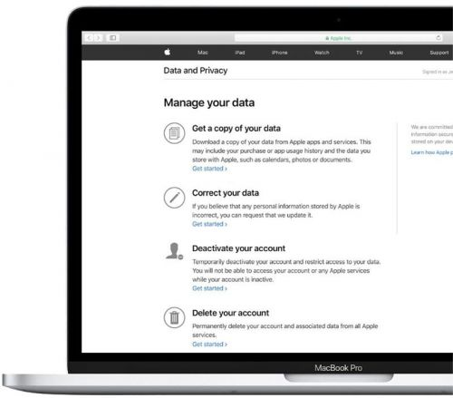 Apple Customers Can Download a Copy of Their Data in the US, Canada, Australia, and New Zealand Starting Today