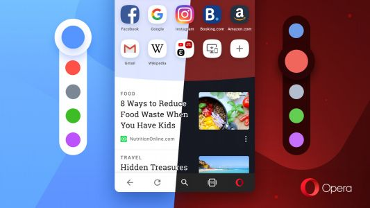 Forget dark mode - Opera for Android offers red, blue, purple and green too
