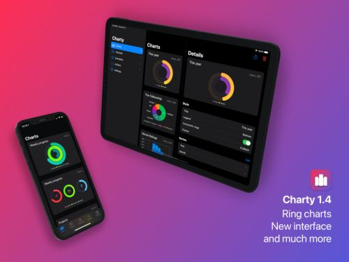 Charty for Shortcuts Update Brings Rings Charts and More