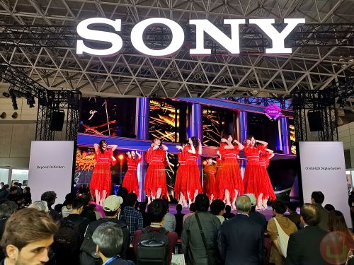Sony 32×18 Foot Crystal LED Display With 8K/120FPS Videos