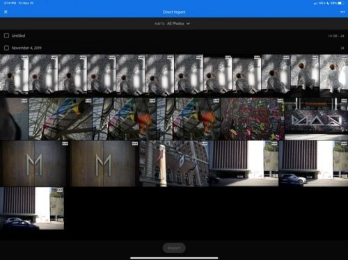 Lightroom for iOS Gains Support for Direct Photo Imports